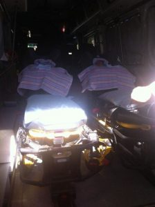Twins in ambulance