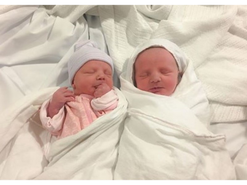airlifted to hospital with twins at 36 weeks