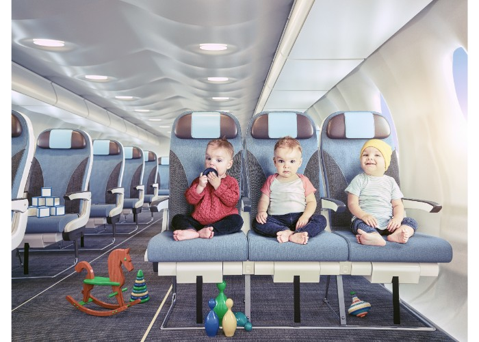 Flying with triplets