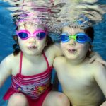 Swimming lessons on your own with twins