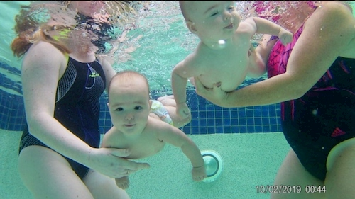 swimming lessons twins