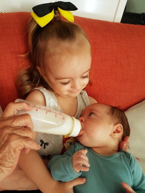 bottle feeding twins