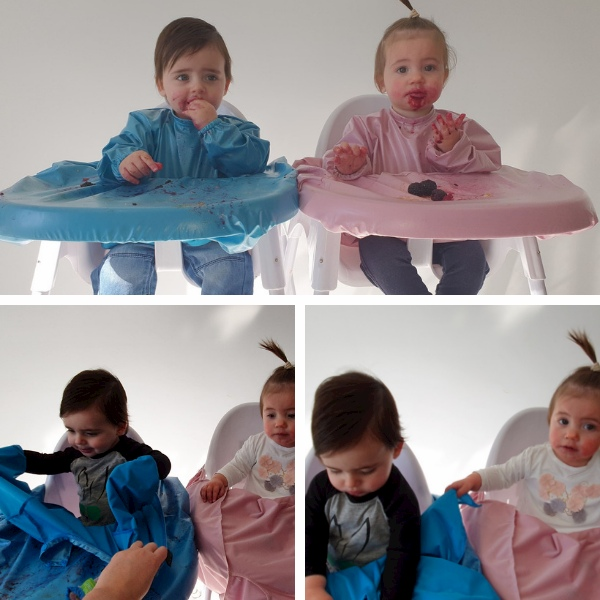 high chair smocks for twins