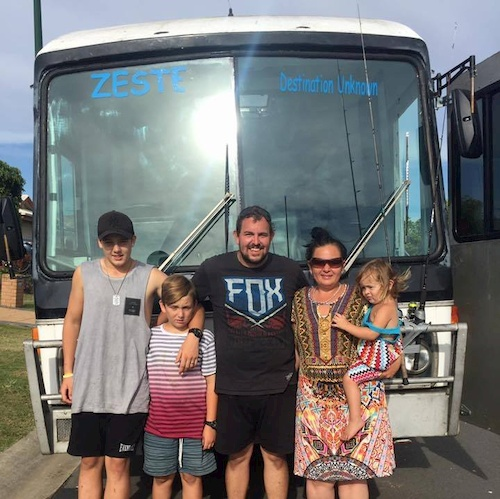 living on the road in a bus as a family