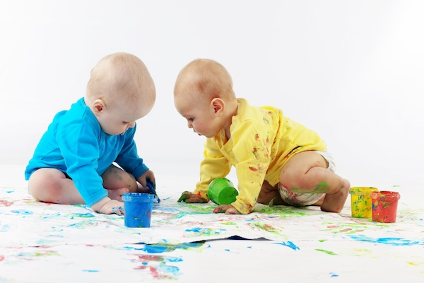 Finger Paint for twins