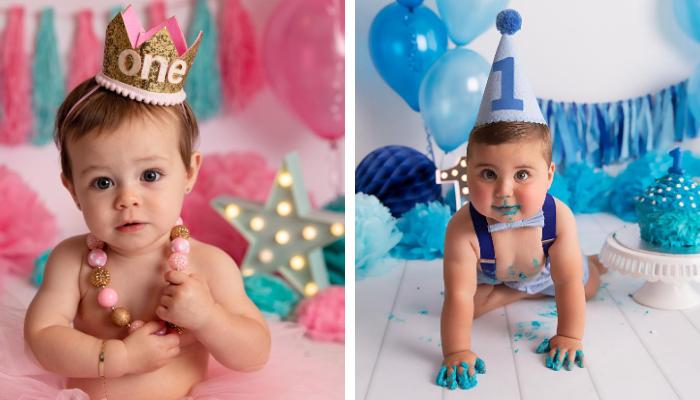 cake smash photographer twins sydney