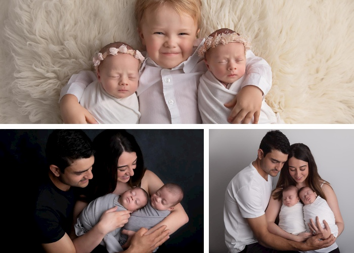 newborn photographer triplets sydney