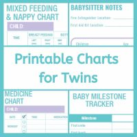 Printable charts for twins and triplets