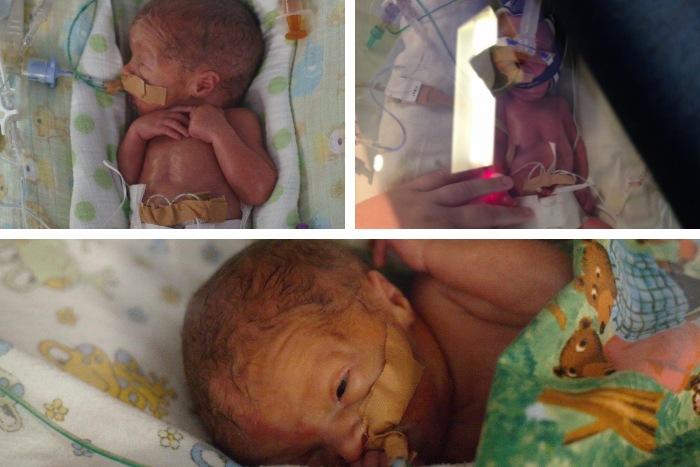 27 week triplets