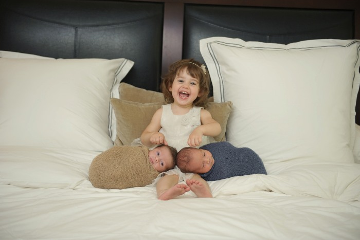 how to get out of the house with newborn twins and a toddler