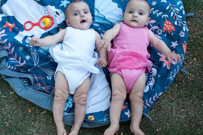 outdoor play ideas for twins under six months of age