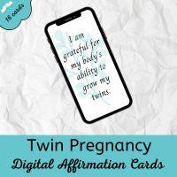 twin pregnancy digital affirmation cards