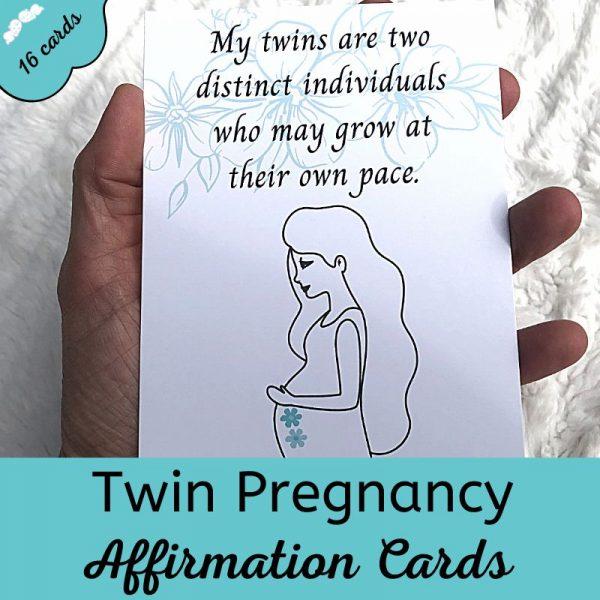 Twins Pregnancy Affirmation Cards