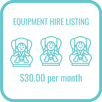 Equipment hire listing